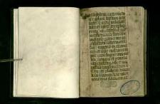 Processionale S.O. Praedicatorum; I. Officium defunctorum; II. Liturgia Wielkiego Tygodnia