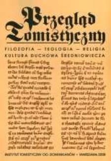 Przegląd Tomistyczny : rocznik poświęcony historii teologii. T. 14 (2008)