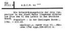 Katalog druków obcych XVIII w. Biblioteki Kolegium Filozoficzno-Teologicznego oo. Dominikanów w Krakowie