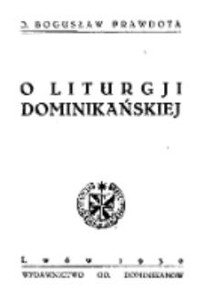 O liturgji dominikańskiej