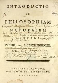 Introductio ad philosophiam naturalem. T. 2