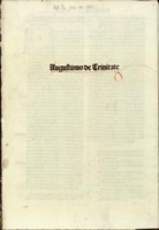 Augustinus De Trinitate