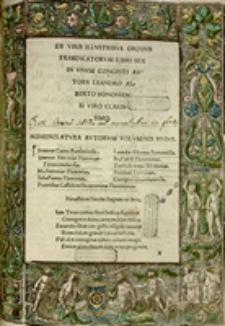 De Viris illustribus Ordinis Praedicatorum libri sex in unum congesti