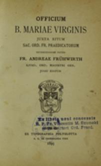 Officium B. Mariae Virginis iuxta ritum Sac. Ord. Fr. Praedicatorum