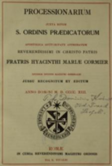Processionarium juxta ritum S. Ordinis Praedicatorum