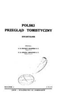 Polski Przegląd Tomistyczny : kwartalnik