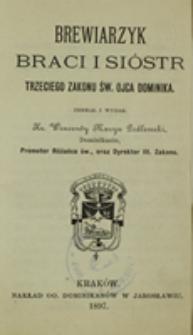 Brewiarzyk braci i sióstr Trzeciego Zakonu św. Dominika czyli Zakonu Kaznodziejskiego