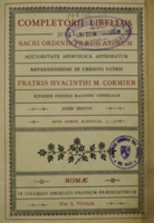 Completorii libellus juxta ritum Sacri Ordini Praedicatorum