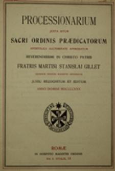 Processionarium juxta ritum Sacri Ordinis Praedicatorum