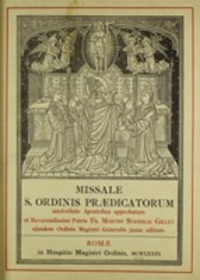 Missale S. Ordinis Praedicatorum