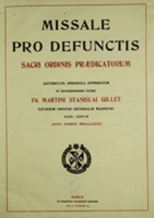 Missale pro defunctis Sacri Ordinis Praedicatorum