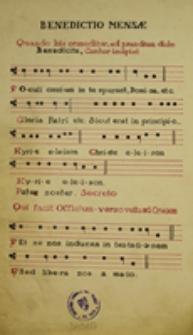 Benedictio Mensae