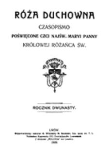 Róża Duchowna - R. 12 (1909) n. 1-12