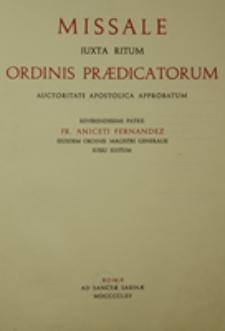 Missale iuxta ritum Ordinis Praedicatorum