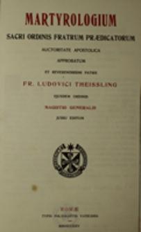 Martyrologium Sacri Ordinis Fratrum Praedicatorum
