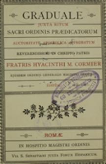 Graduale juxta ritum Sacri Ordinis Praedicatorum