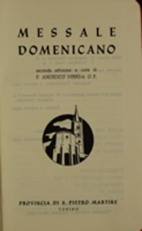 Messale Domenicano seconda edizione