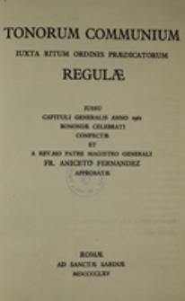 Tonorum Communium iuxta ritum Ordinis Praedicatorum Regulae