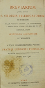 Breviarium juxta ritum Sacri Ordinis Praedicatorum