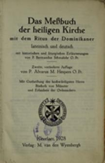 Das Meßbuch der heiligen Kirche mit dem Ritus der Dominikaner : lateinisch und deutsch