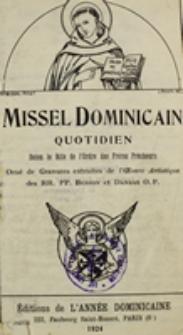 Missel Dominicain Quotidien selon le rite de l'Ordre des Frères Prêcheurs