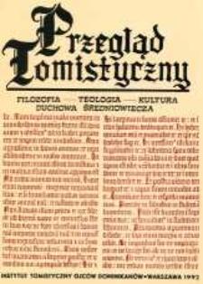 Przegląd Tomistyczny : rocznik poświęcony historii teologii. T. 5 (1992)
