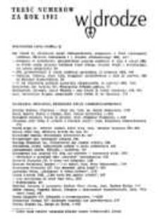 W drodze - R.11 (1983) - treść numerów