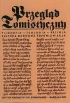 Przegląd Tomistyczny : rocznik poświęcony historii teologii. T. 9 (2003)