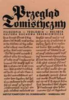 Przegląd Tomistyczny : rocznik poświęcony historii teologii. T. 6-7 (1997)