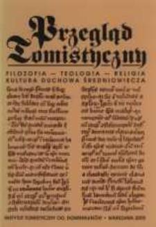Przegląd Tomistyczny : rocznik poświęcony historii teologii. T. 11 (2005)
