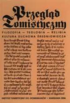 Przegląd Tomistyczny : rocznik poświęcony historii teologii. T. 12 (2006)