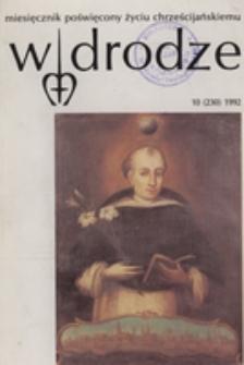 W drodze - R. 20 (1992) nr 10