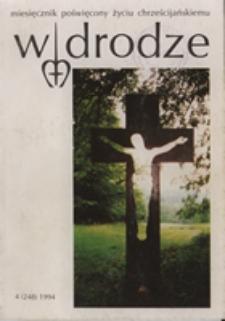 W drodze - R. 22 (1994) nr 4