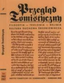Przegląd Tomistyczny : rocznik poświęcony historii teologii. T. 13/2 (2007)