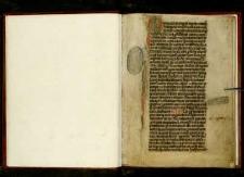 I. Constitutiones Ordinis Fr. Fr. Praedicatorum de Cracovia; II. Odpis dokumentu, w którym ojcowie klasztoru krakowskiego zobowiązuą się do odprawiania mszy świętej w intencji dobroczyńczyni Katarzyny z Malsztyna, która odbudowała presbiterium zniszczone pożarem; data 1463; III. Odpis dokumentu, w którym ojcowie klasztoru krakowskiego zobowiązują się do modlitw za doroczyńczynię Annę Ligęza, która przyczyniła się do budowy biblioteki, data 1514