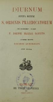 Diurnum juxta ritum S. Ordinis Praedicatorum